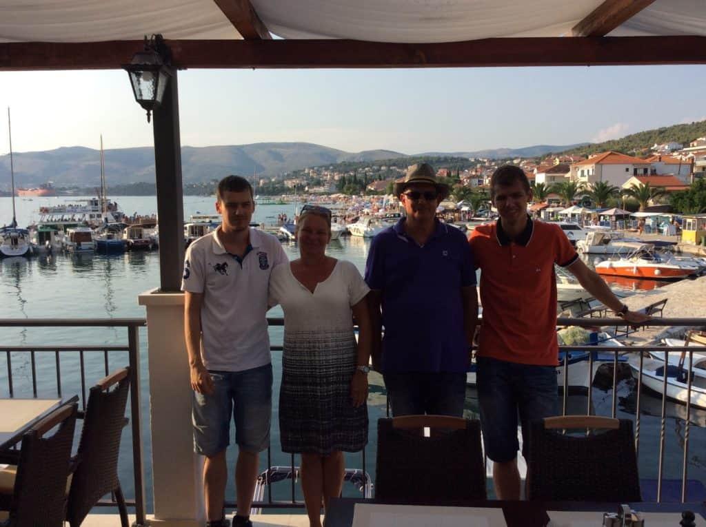 Familien bag Ferie i Kroatien