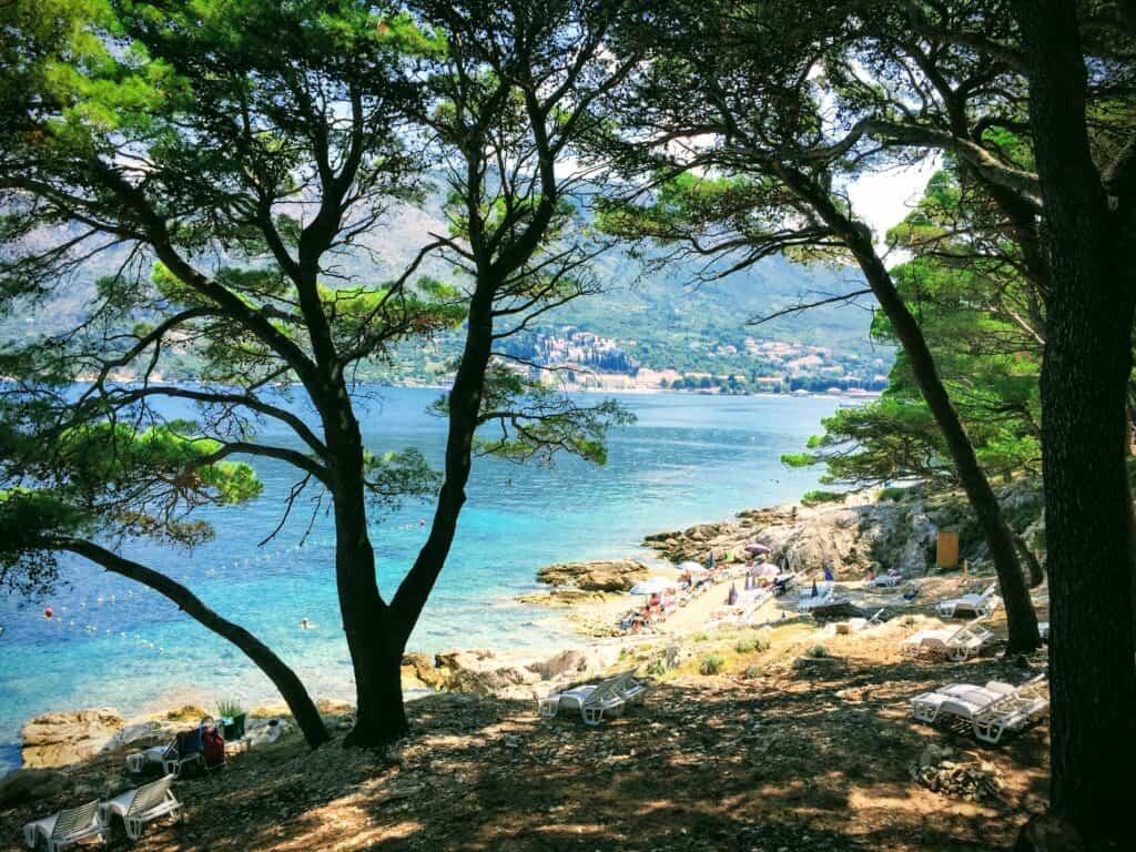 Smuk klippestrand i Cavtat