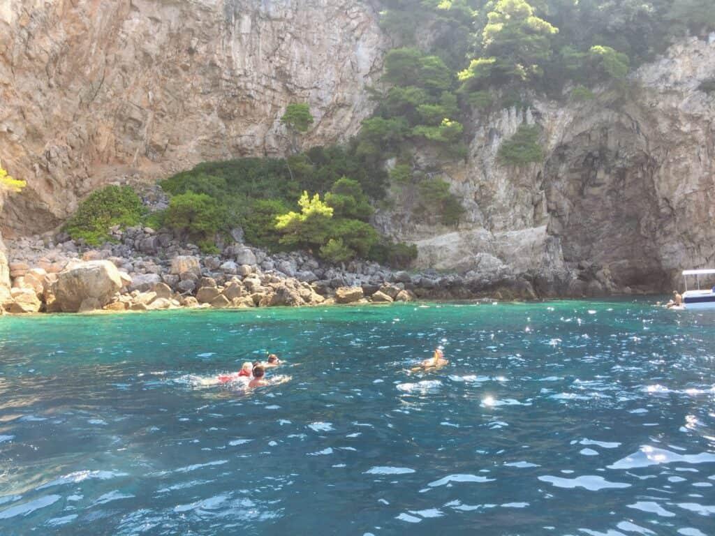 Badning fra speedbåd og svømning i The Blue Lagoon
