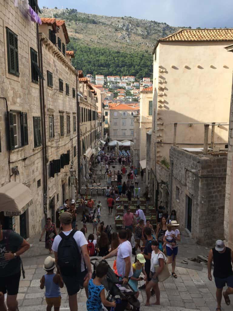 På vej ned til Gundulic Square