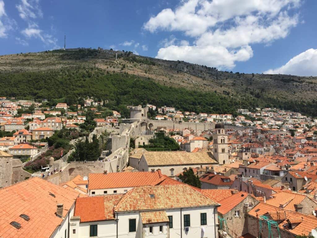 Den gamle bydel set fra Walls of Dubrovnik