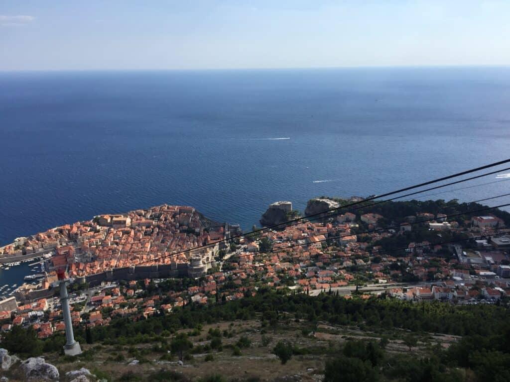 Kig over Dubrovnik fra Panorama Restaurant Srd bjerget